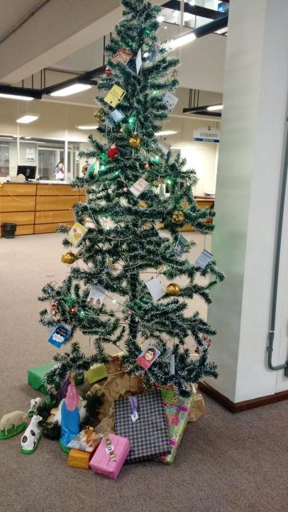 Árvore de Natal da Biblioteca Central.