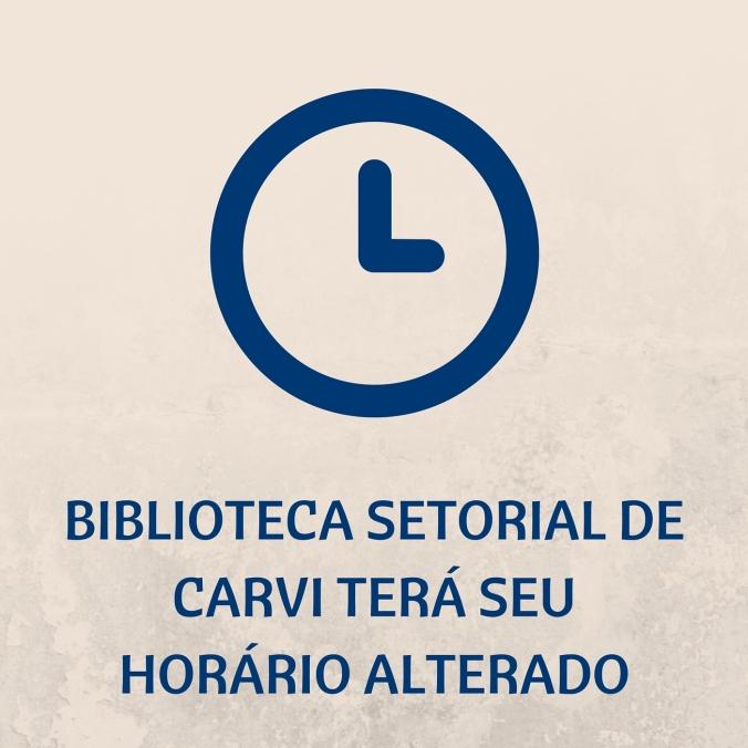 Biblioteca setorial de Carvi terá seu horário alterado (1)
