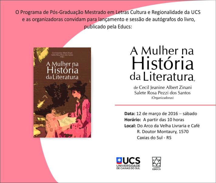 MULHER NA HISTORIA DA LITERATURA