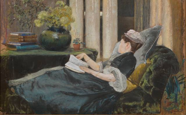Louise Tiffany, Reading.jpg