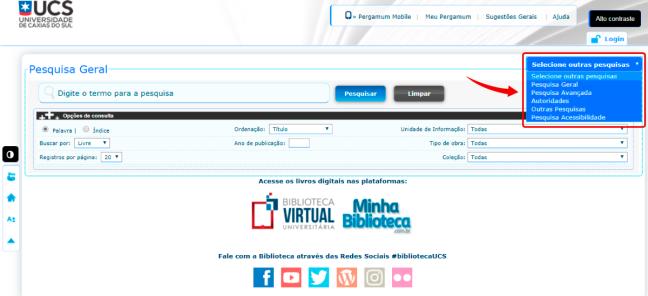 """0cf80bbf117 Saiba mais sobre a """"Pesquisa Avançada"""" do catálogo online – Blog do ..."""