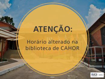 Horário-Cahor